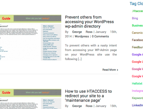 WordPress Tag Cloud Widgets 'may' harm your blog's SEO performance
