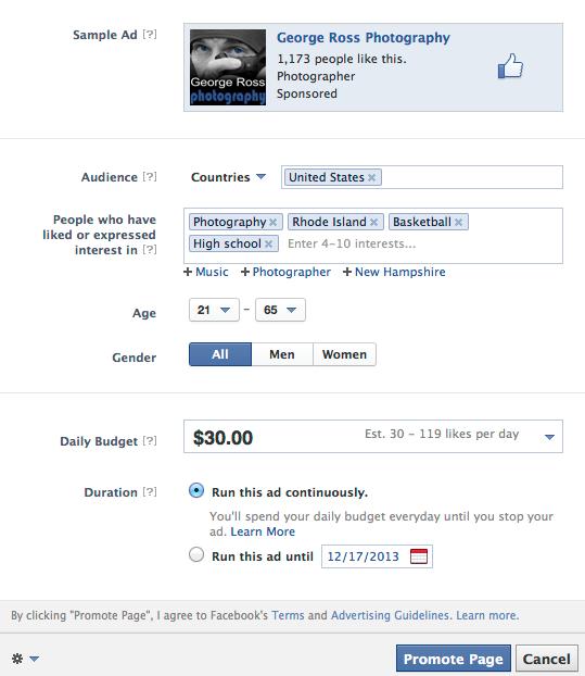 facebook advertising in rhode island