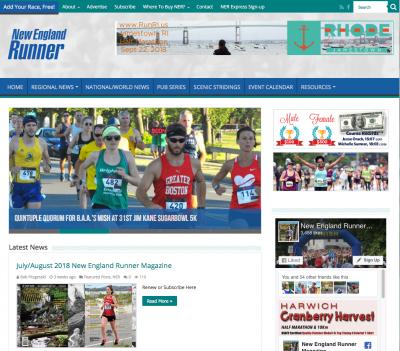 NE Runner Website Redesign
