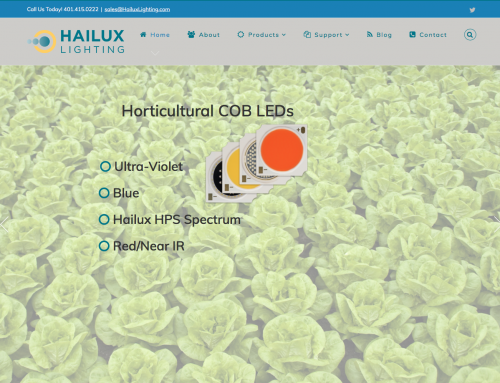 New Hailux Lighting Website Published (WordPress)