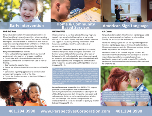 Tri-Fold Brochure, Deaf and Hard Of Hearing Services