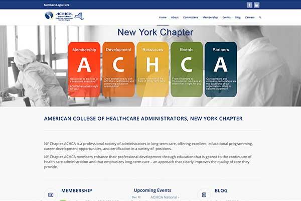 Wordpress site design for ACHCA NYC