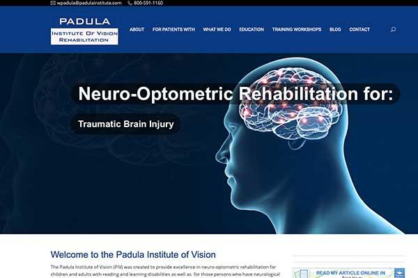 wordpress site design for padula institute