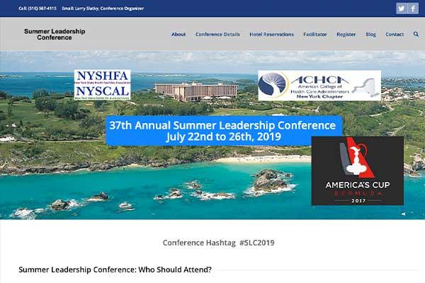 wordpress website design for a conference