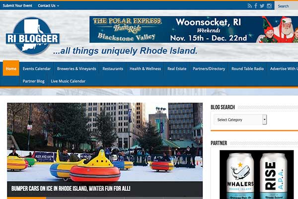 Wordpress Website Design, RI Blogger