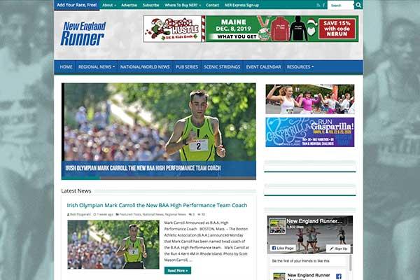 Wordpress Website Design. New England Runner