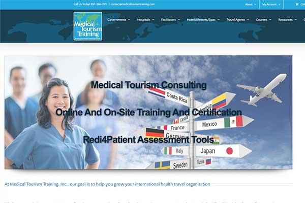 Wordpress Website Design Example, Medical Tourism