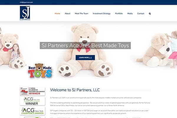 Wordpress website design for venture capitalist