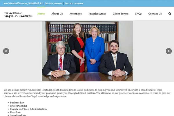 Wordpress site built for an attorneys office