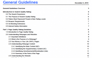 Google Serach Guidelines